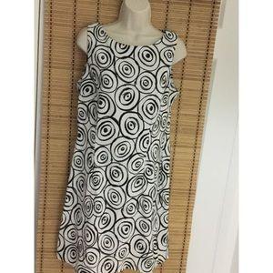AGB Black and White Circle Print Dress Size 12
